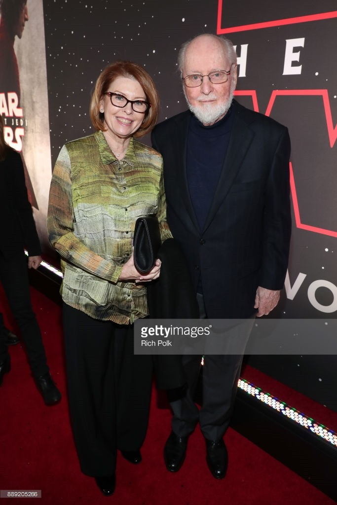 at Star Wars: The Last Jedi Premiere at The Shrine Auditorium on December 9, 2017 in Los Angeles, California.